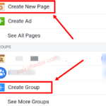 Creating Facebook group and fan page